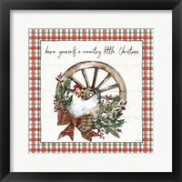 Framed Holiday on the Farm V Plaid