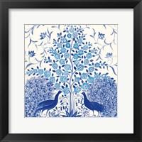 Framed Peacock Garden VIII