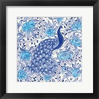 Framed Peacock Garden III
