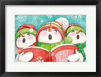 Let it Snow IV Eyes Open Framed Print