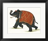 Framed India Elephant II Light Crop