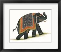 Framed India Elephant I Light Crop