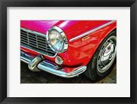 Framed Fiat 1500 Cabriolet Red Front Detail
