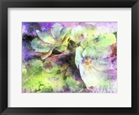 Framed Pink and Green Floral Abstract