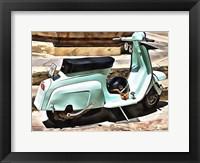 Framed Blue Lambretta