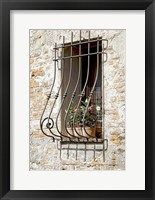 Framed Ornate Window Grill Cetona