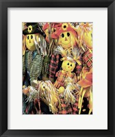 Framed Scarecrow Family