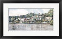 Framed Boathouse Row 6