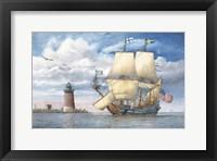 Framed Kalmar Nycle Under Sail