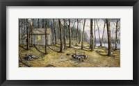 Framed Woodland Visitors