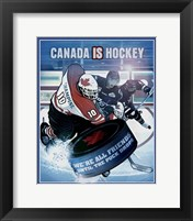 Framed Canada is Hockey