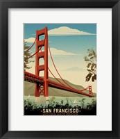 Framed Golden Gate Bridge Daybreak