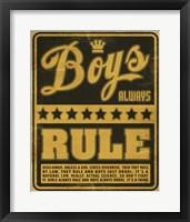 Framed Boys Rule2