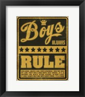 Framed Boys Rule2