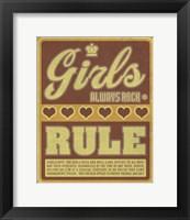 Framed Girls Always Rock and Rule