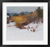 Framed Snowy Creek Elk