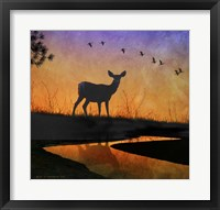 Framed Deer Silhouette