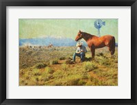 Framed Cowboy On The Range