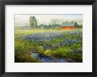 Framed Blue Bonnet Barn