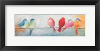Framed Colorful Birds On A Wire