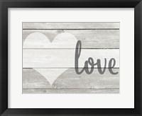 Framed Barnwood Love