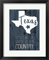 Framed Texas Country