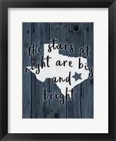 Framed Stars at Night