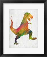 Framed Bright Dino 1