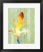 Framed Painted Lizard 1