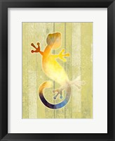 Framed Painted Lizard 2