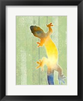 Framed Painted Lizard 3