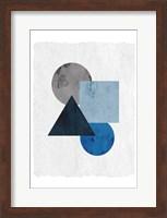 Framed Blue Shapes 1