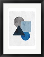 Framed Blue Shapes 1