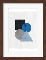 Framed Blue Shapes 2