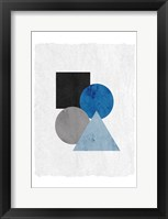 Framed Blue Shapes 2