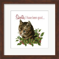 Framed Cat Christmas 1