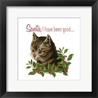 Framed Cat Christmas 1