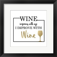 Framed Just Wine 1