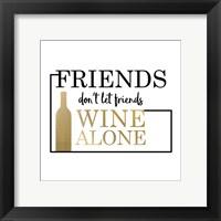 Framed Just Wine 2