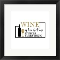 Framed Just Wine 4