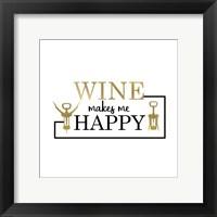 Framed Just Wine 5