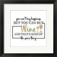 Framed Just Wine 6