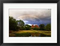 Framed Catherdral Rock Rainbow Sedona Arizona