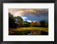 Framed Catherdral Rock Rainbow