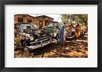 Framed Old Cars Trucks Route 66