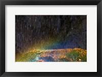 Framed Water Falling On Rock 2