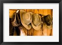Framed Old Hats Gun On The Wall Payson Arizona