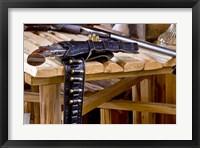 Framed Six Shooter With Gun Belt Payson Arizona