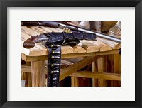 Framed Six Shooter With Gun Belt Payson Arizona