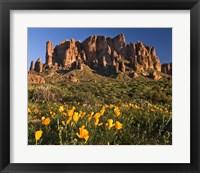Framed Lost Dutchman State Park Superstition Mtns